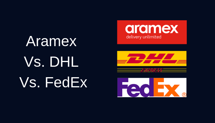 Aramex Vs. DHL Vs. FedEx