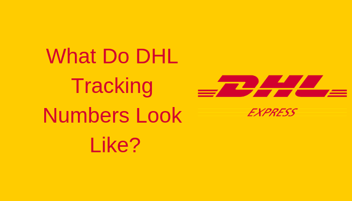 What do DHL tracking number look like