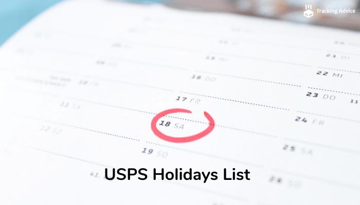 usps holidays list