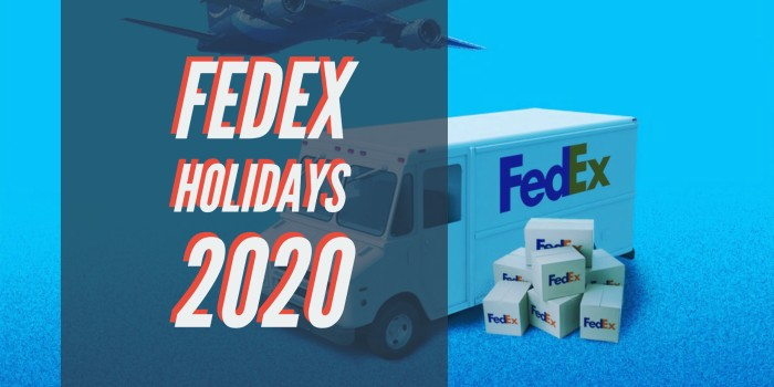Fedex Holidays 2020
