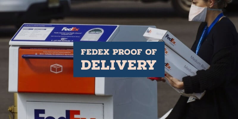 FedEx Proof Of Delivery