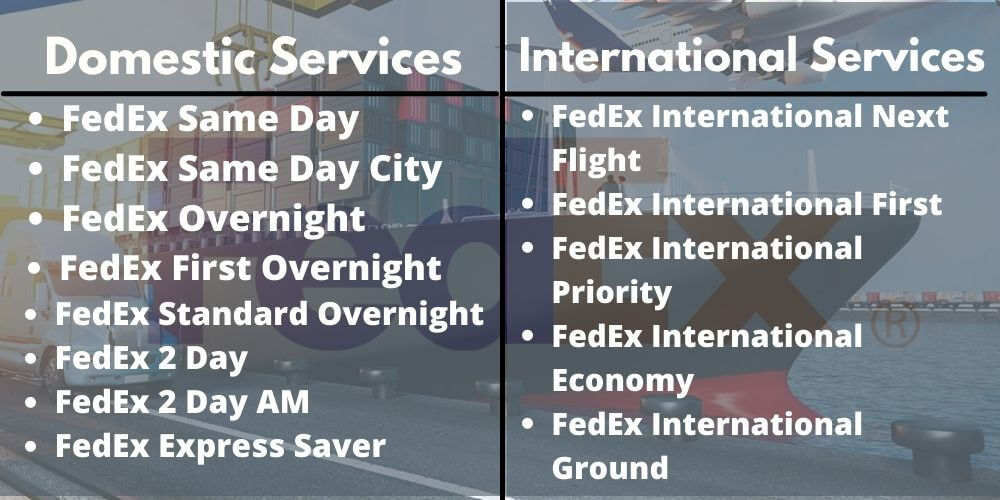 fedex domestic and international services