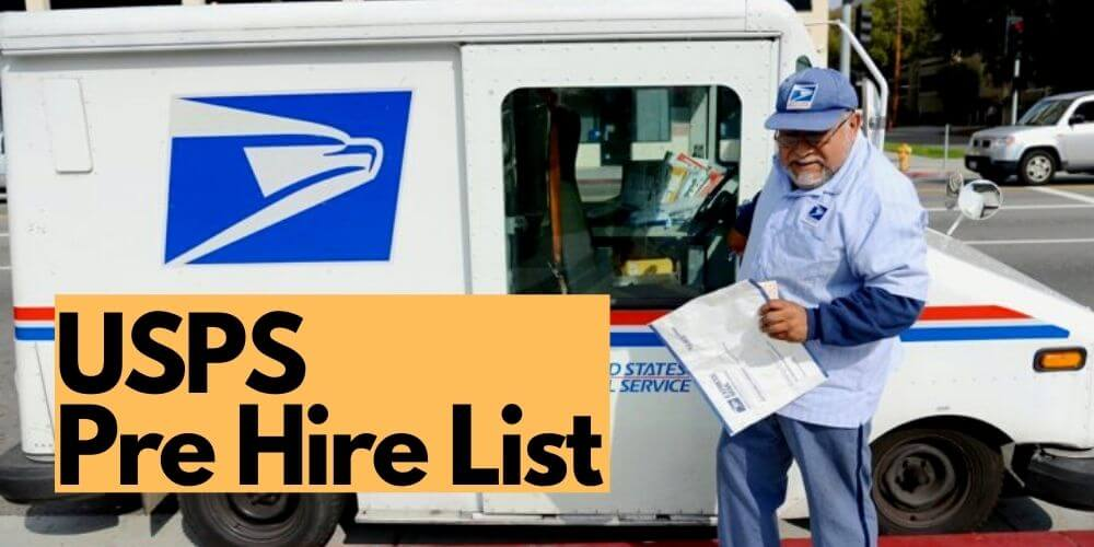 USPS Pre hire List all you need to know