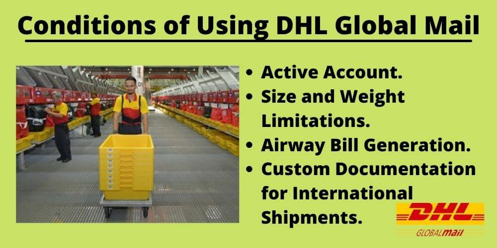 DHL Global Mail: Conditions