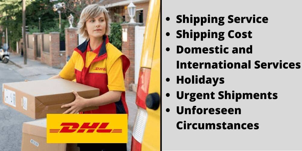 Shipping Service Shipping Cost Domestic and International Services Holidays Urgent Shipments Unforeseen Circumstances