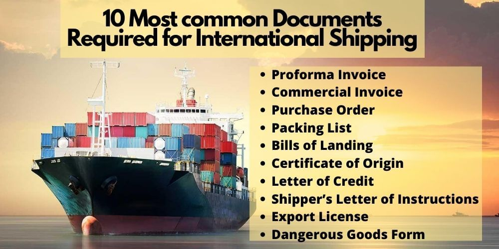 Documents Required for International Shipping